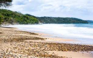 Hidden beach from the island of Trinidad